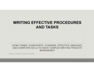 Procedures Manual Writing PowerPoint Slideshow